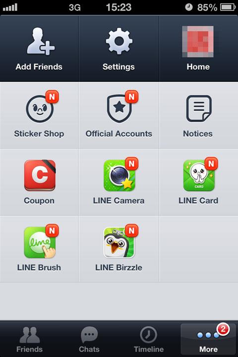 Más Apps disponibles desde Line