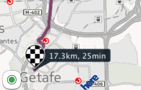 Mapa borroso de Here, la App de mapas de Nokia