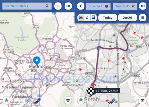 Mapas de Nokia en el iPhone