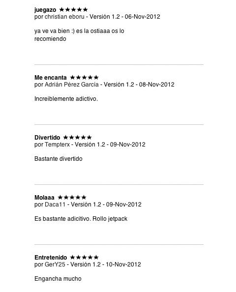 Reseñas en la App Store