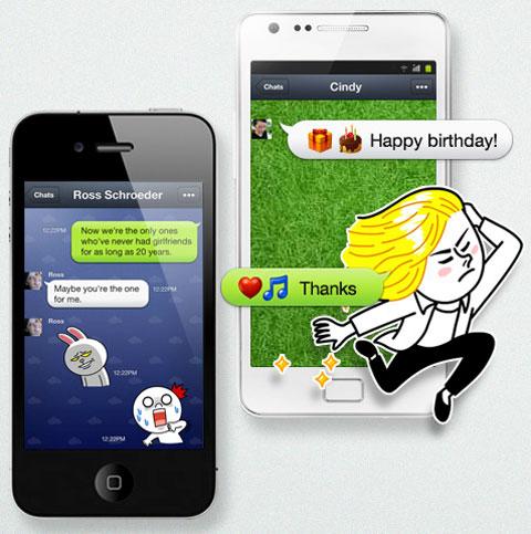Line en smartphones