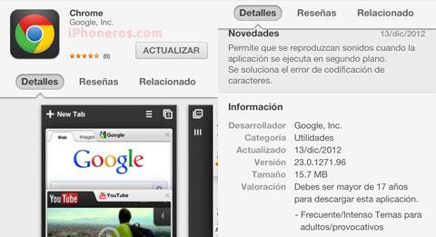 Nuevo Chrome para iOS