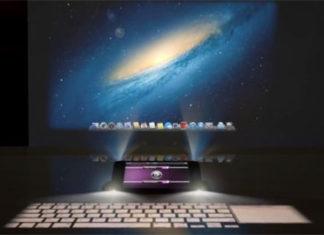 iPhone 5 con cuatro proyectores