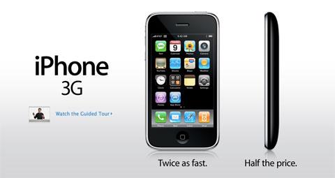 Lanzamiento del iPhone 3G en el año 2008