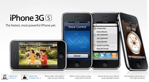 El iPhone 3GS se lanzó en el año 2009 repitiendo diseño externo