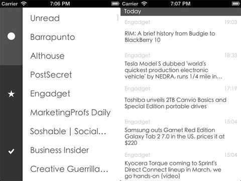 Espresso for Google Reader