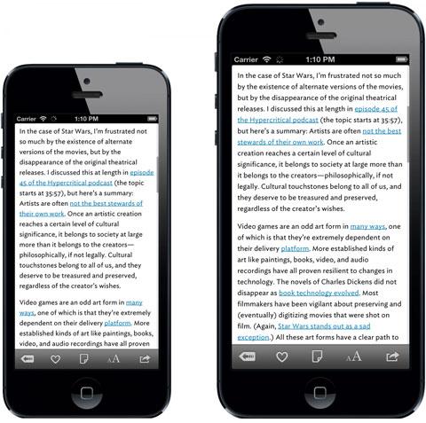 iPhone 5 en dos tamaños