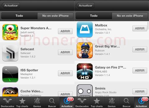 Lista de Apps descargadas