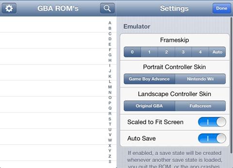 Emulador de GBA esconcido