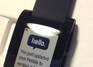 El Pebble nos dice hola