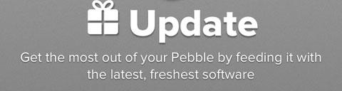 Actualización para Pebble disponible