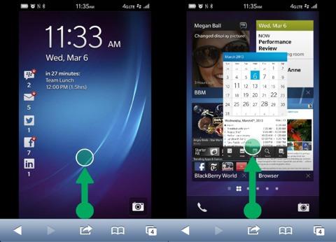 BlackBerry 10 en un iPhone