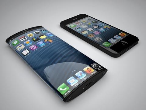 Render de iPhone con pantalla curvada