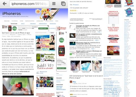 iPhoneros.com en Chrome