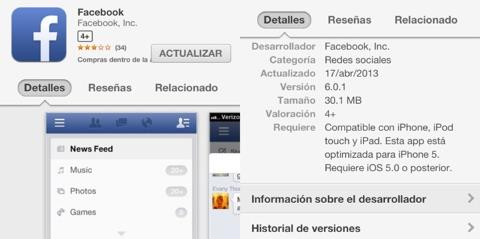 Facebook 6.0.1