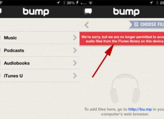 Aviso en Bump