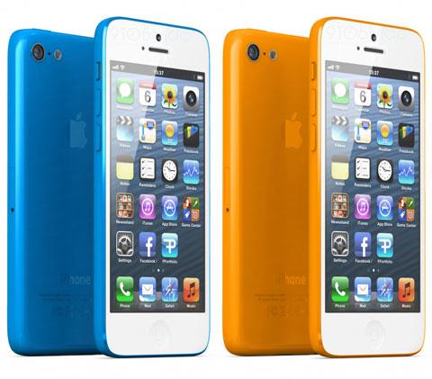 Concepto de diseño de iPhone de plástico de colores