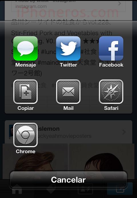 Compartir en Chrome