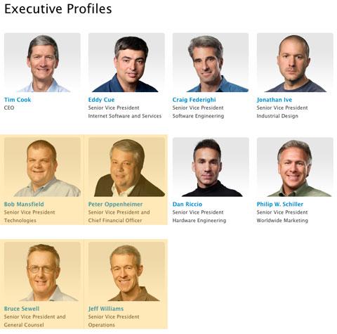 Ejecutivos de Apple