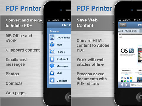 PDF Printer for iPhone
