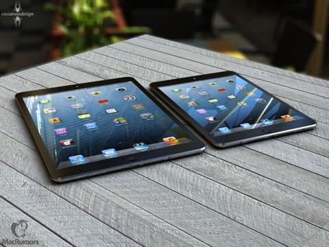 Imagen generada por ordenador del iPad 5