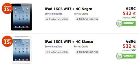 Precios del iPad en la Apple Store