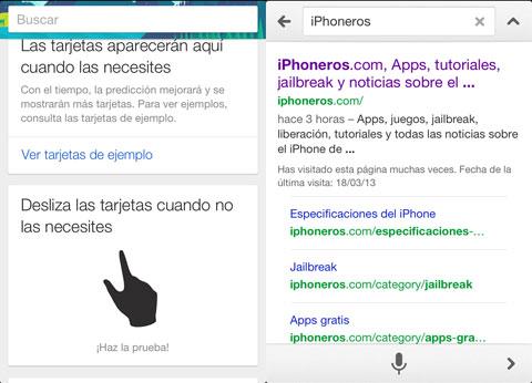 iPhoneros en Google Now