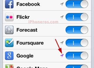 Servicio de localización de la App de Google