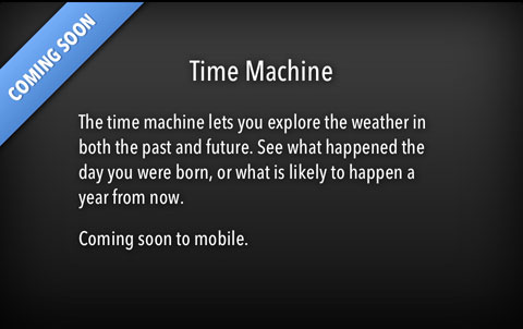 Time Machine en Forecast