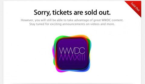 Todo vendido para la WWDC 2013