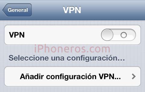 Configuración VPN en iOS