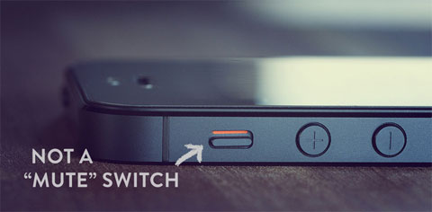 Botón de silencio en el iPhone