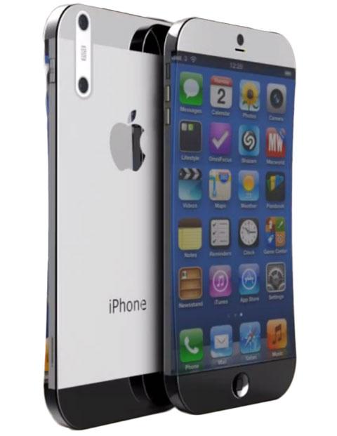 iPhone con pantalla cóncava