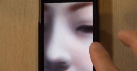 Dibujando una geisha en un iPhone