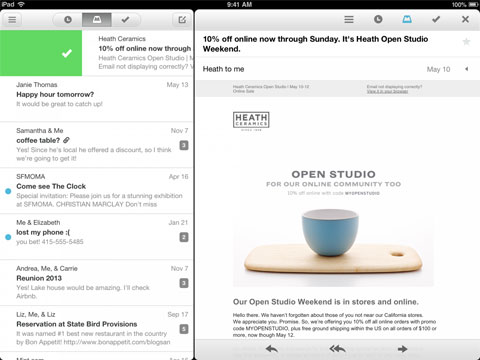 Mailbox para iPad