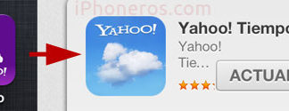 Cambio de icono en la App de Yahoo