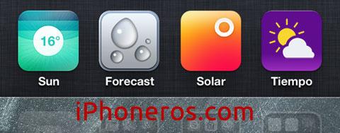 Nuevo icono del Tiempo propuesto por iPhoneros.com