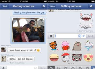 Pegatinas en Facebook Messenger