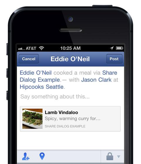 Compartiendo algo con el SDK de Facebook