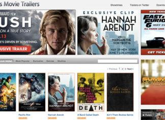 Página de trailers de Apple