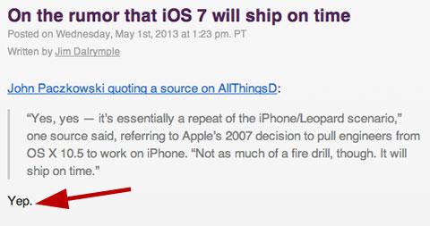 iOS 7 llegará a tiempo
