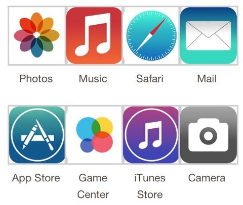 Maqueta de Iconos de iOS 7