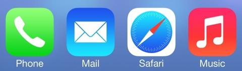 Iconos de iOS 7