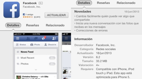 Facebook 6.2