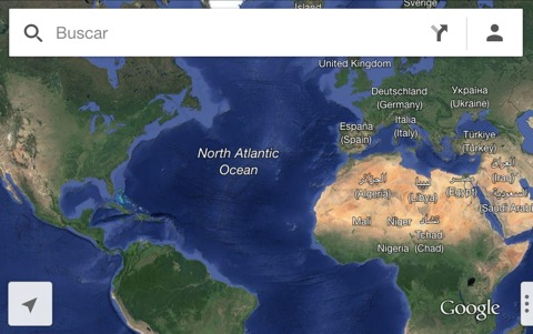 Mapas sin nubes en Google Maps