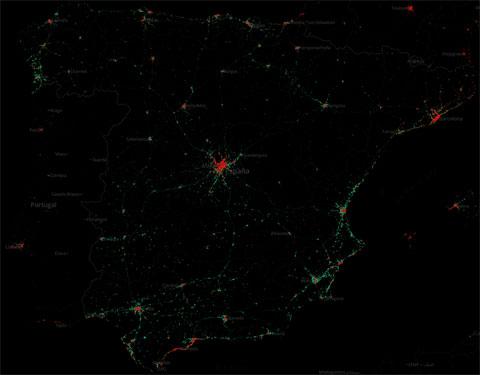 Presencia de iOS y Android en España