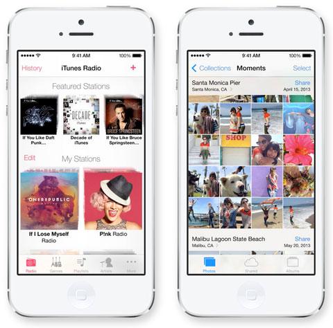 Interfaz de iOS 7