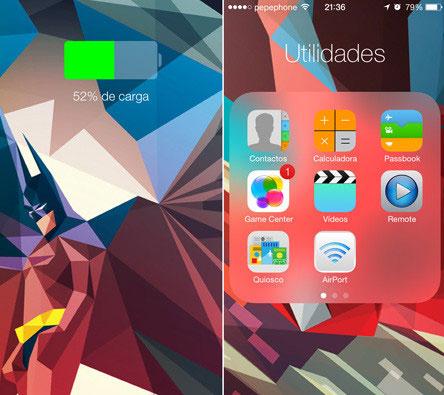 Batería en iOS 7