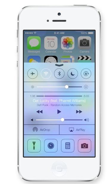 Control Center en iOS