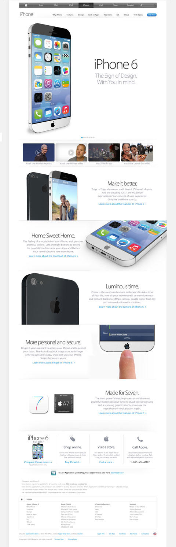 Cómo quedaría la web de Apple con este concepto de diseño de iPhone 6